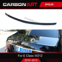 메르세데스 W212 카본 리어 스포일러 트렁크 스포일러 (MB E 클래스 W212 2010 2011-2015) 용 광택 블랙 컬러