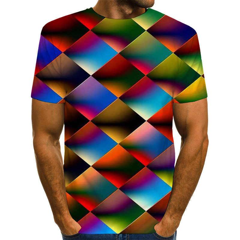 Uneyサイケデリックシャツ3Dグラフィックtシャツ男性たちのためにサイズライトトップス虹tシャツ男性/女性のtシャツラヒップホップラウンドネックトップtシャツ
