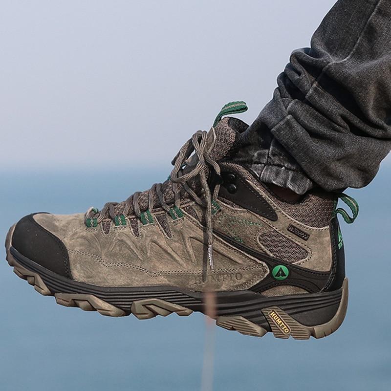 Humtto caminhadas sapatos homens inverno ao ar livre esportes sapatos de escalada sapatos de caça quente mulher tênis de trekking ankle boots tático