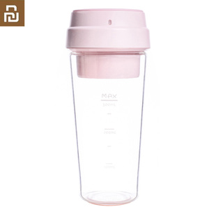 Image 1 - Youpin 17Pin 400ML Electric Juicer Electrical  Mini Fruit Vegetable Orange Juice Blender 400ml Cup For Child Outdoor Pink