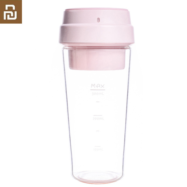 Youpin 17Pin 400ML Electric Juicer Electrical  Mini Fruit Vegetable Orange Juice Blender 400ml Cup For Child Outdoor Pink