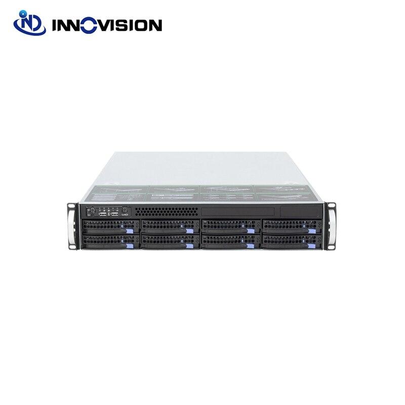 2U, 560MM, 8 bahías, enchufe caliente, 6GB, mini sas, bastidor del servidor con 550W 80plus, fuente de alimentación Delta y Molde HDD de 2,5