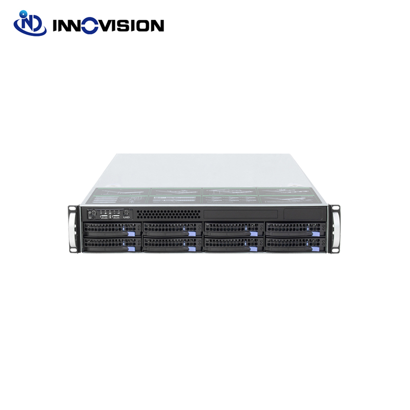 2U 560MM 8bays Hot Plug 6GB Mini Sas Backplane Server Chassis With 550W 80plus Delta Power Supply And 2.5