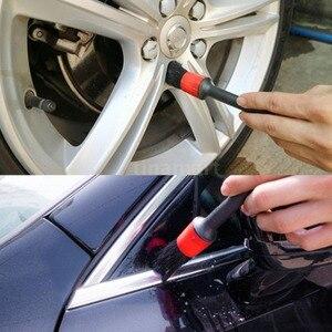 Image 2 - Brosse ronde en plastique pour les détails de la coiffure, pour le nettoyage des voitures, 5 jeux