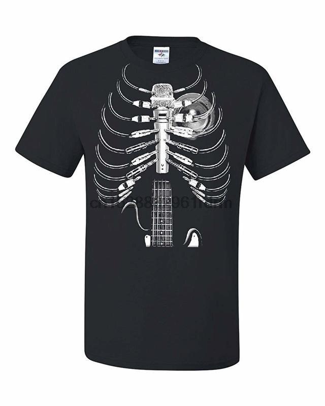 Amped Up Sweatshirt Music Guitar Skeleton Rib Cage Speaker Rock Star Hoodie Gift
