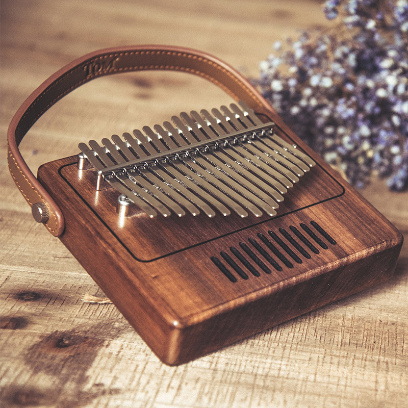 17 sleutel Creatieve Kalimba Piano effen Zwarte walnoot hout Kalimba Duim Piano Muziek Gift Student populaire Mooie - 3