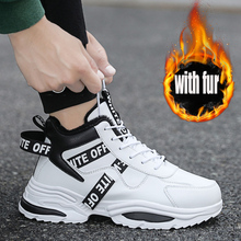 Men's Winter Shoes Brand Men Casual Shoes off white Sneakers Men Winter Snow Boo