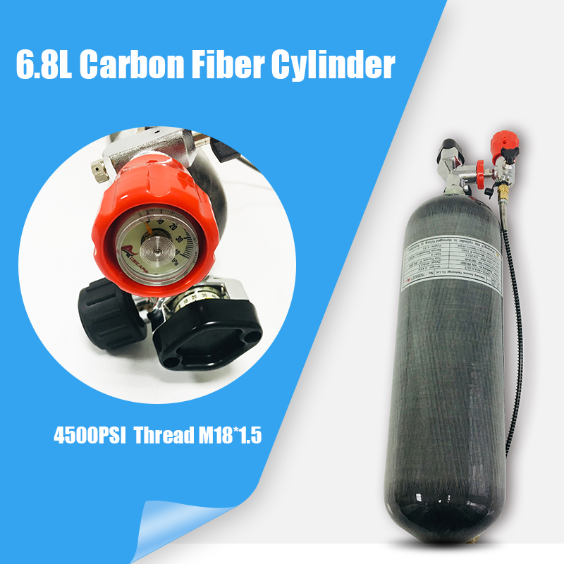 Acecare Scuba Diving Cylinder Carbon Fiber Tank Pcp Paintball Tank 6.8L 300Bar/4500Psi  CE Air Tank  Airforce Condor Air Gun