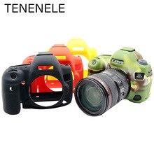 TENENELE لكانون EOS 5D3 5D4 كاميرا الجسم أكياس لينة سيليكون حالات غطاء مطاطي لكانون EOS 5D III IV حماية اكسسوارات