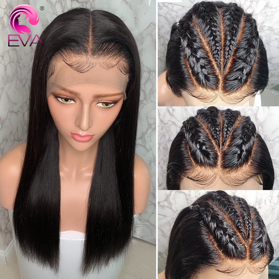 Image 2 - Eva Hair 13x6 Lace Front Human Hair Wigs For Black Women Brazilian Remy Hair Straight Lace Front Wigs Pre Plucked With Baby Hair-in Human Hair Lace Wigs from Hair Extensions & Wigs