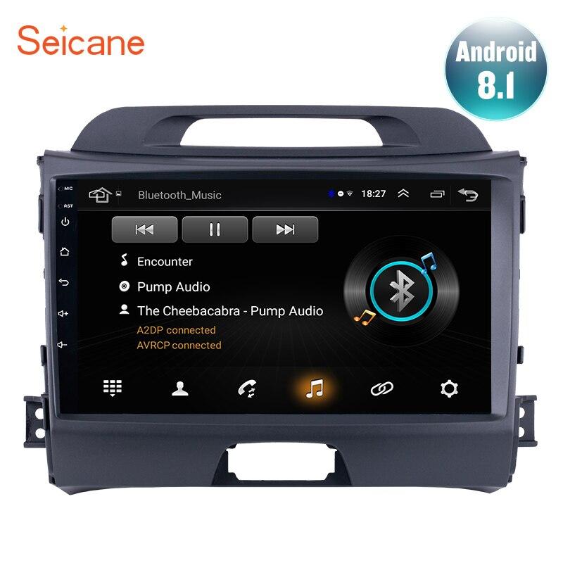Seicane Android 8.1 9 pouces unité de tête pour 2010 2011 2012 2013 2014 2015 KIA Sportage Radio Audio voiture GPS lecteur multimédia 2DIN