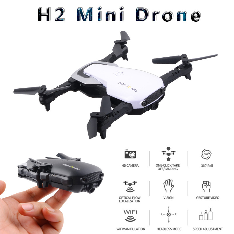 Hot Sales Mini Optical Flow Folding Unmanned Aerial Vehicle Aerial Photography High-definition Quadcopter Pressure Set High Remo