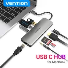 Vención de La Thunderbolt 3 Dock adaptador de Hub USB C a HDMI RJ45 USB 3,0 Audio divisor de vídeo para MacBook Samsung Huawei adaptador de USB-C