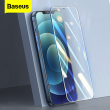 Baseus 2PCS Screen Protector 0.3mm Full Cover Protective Tempered Glass For iPhone 12 11 Pro XS 12Pro Max XR X Mini Glass Film
