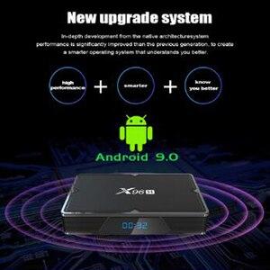 Image 2 - X96 H mini Smart Tv Box z systemem Android 9.0 zestaw pudełkek pod telewizor 6K 2gb 4gb 16gb 32gb 64gb czterordzeniowy odtwarzacz multimedialny