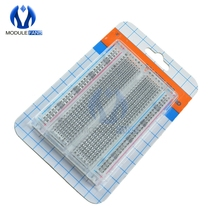 New Mini Solderless Breadboard Transparent Material 400 Points Available DIY TIE DIY electronic FOR MB-102 MB102