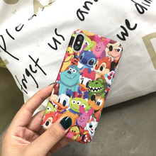 Ins Hot Cute Stitch Emoji Dasiy Donald Duck Phone Case For iPhone 7 Puls 6 6S X Cases Hard PC Matte Back Cover Coque