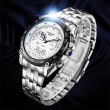 LONGBO Men's Watches 80102 relogio masculino army military fashion sport luxury Japan movement waterproof steel quartz watch