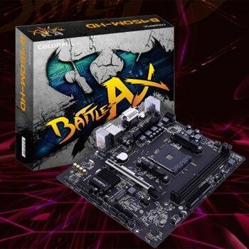 COLORFUL BATTLE-AX B450M-HD V14 Motherboard Dual Channel DDR4 32GB RAM USB3.0 SATA3.0 6Gb/S for AM4 Interface Processor