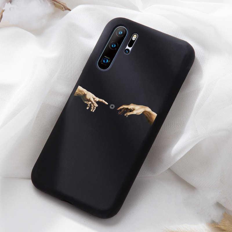 Pecinta Rose Line Honor20 10 Silikon Lembut Case untuk Huawei P20 P20Lite P20Pro P30 Lite P30Pro Ponsel Cover Case Capa fundas Coque