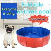 Детский открытый плавательный бассейн pet Ванна кошка Купание складной бассейн собака для плавательного бассейна кровать летний бассейн синий красный