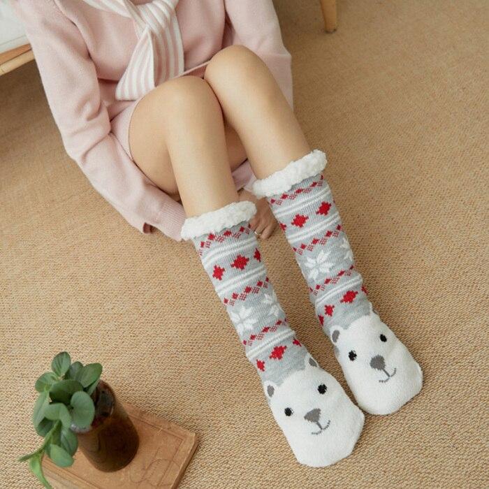Venda quente feminino extra-quente lã interior meias