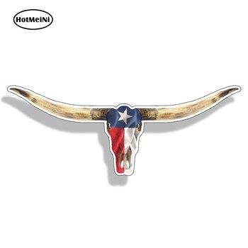 HotMeiNi 13cm X 5cm Texas TX Longhorn samotna gwiazda flaga stanu naklejki na zamówienie naklejka na samochód ciężarowy Laptop Cup winyl do stylizacji samochodu naklejka