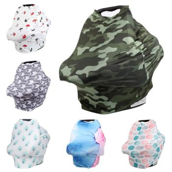 Baby Feeding Breastfeeding Scarf Car Seat Stroller Protective Cover Newborn Girls and Boys Multipurpose Stretch Shawl Wrap