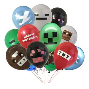 10pcs/set 12inch Boys Video Game Controller Foil Helium Balloon Pixel TNT Pig Game Level Up Balloon Birthday Party Decoration(China)