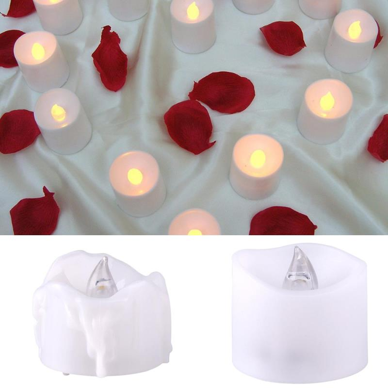 Mini Plastic Candle Lamp Flickering Flameless Home Bedroom Decorations