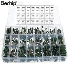 660pcs/lot 24Value Capacitor kit 100V 2A221J to 2A474J Polyester Film Capacitor Assorted Kit 0.47nF 0.68nF 1nF 2.2nF Capacitors