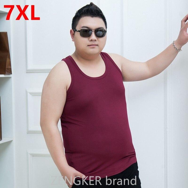 7XL   Tank     Tops   men XL men's sweat Big yards men Vest vest summer super large Sleeveless Modal undershirt big size