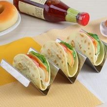 купить Stainless Steel Pancake rack Wave Shape Holders  Biscuit Mexican Food Rack Pancake Cookie Stand дешево
