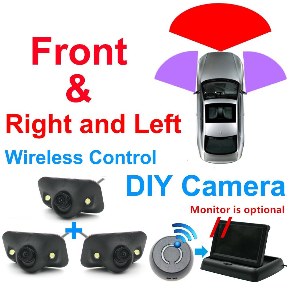 Otomobiller Diy araba 360 aroud görüş kör nokta sokak yan görünüm sağ görünüm park video alt başlangıç araç kablosuz kamera