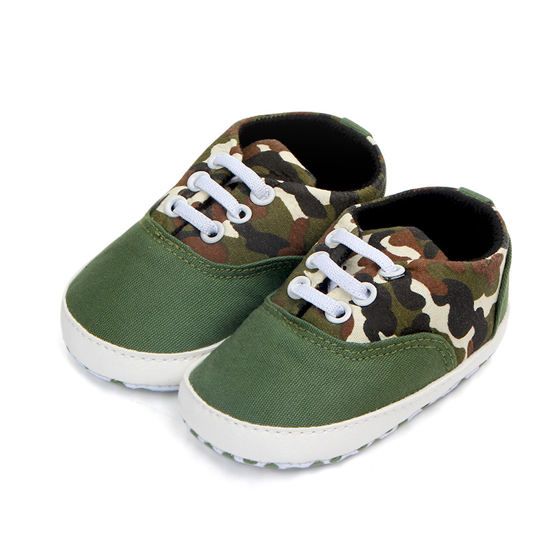 Baby Boy Toddler Shoes Army Green Camouflage 5 Patterns Casual Sneaker Infant Newborn Children's Shoes For 0-18 Months