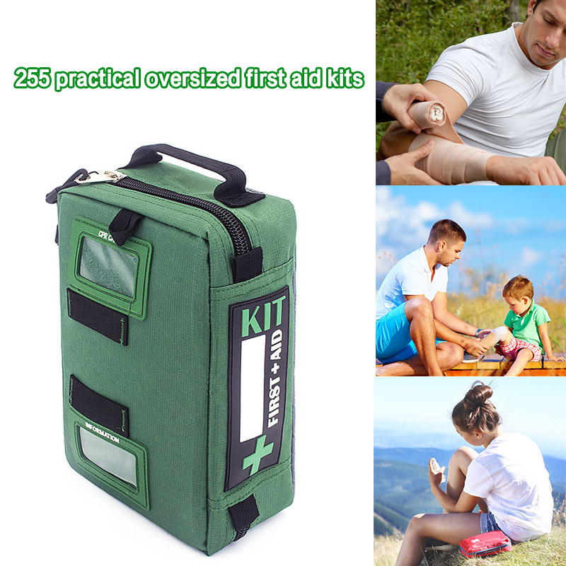 255pcs/Set Outdoor Survival Kits Emergency Gear Living Tools For Travel Hiking Camping J9