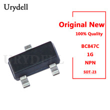 50 pces bc847c 1g npn transistores de uso geral sot-23 novo e original