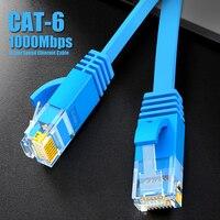 SAMZHE CAT6 Ethernet Cable plano RJ45 Lan Cable de red Cable de conexión Ethernet Red CAT 6 Cable para computadora enrutador portátil