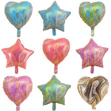 18inch 5pcs Agate star heart Foil Balloon Helium Air Globos Birthday Party Wedding Decorations Party Wall Baloon Arch Supplies(China)