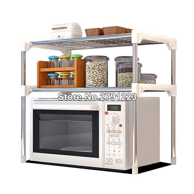 kitchen storage shelf rack microwave oven shelving unit 2 tier multi functional microwave oven shelf rack standing type