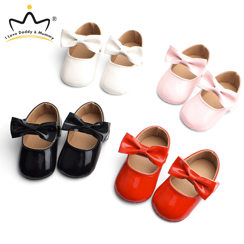 0-18 Months Spring Summer Baby Shoes Pink Bowknot Princess Baby Girl Shoes Anti Slip Toddler Shoes For Girls Infant First Walker