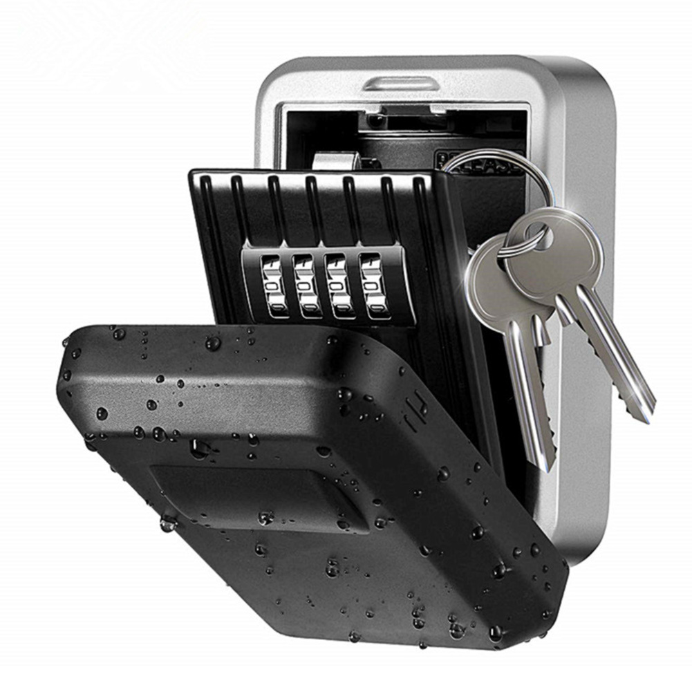 Key Lock Box With Waterproof Case Wall Mount Metal Password Box For Home Business Realtors TU-shop