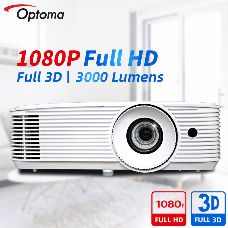 Проектор Optoma 1080P Full HD DLP, профессиональный видеопроектор Blu-Ray 3D для домашнего кинотеатра