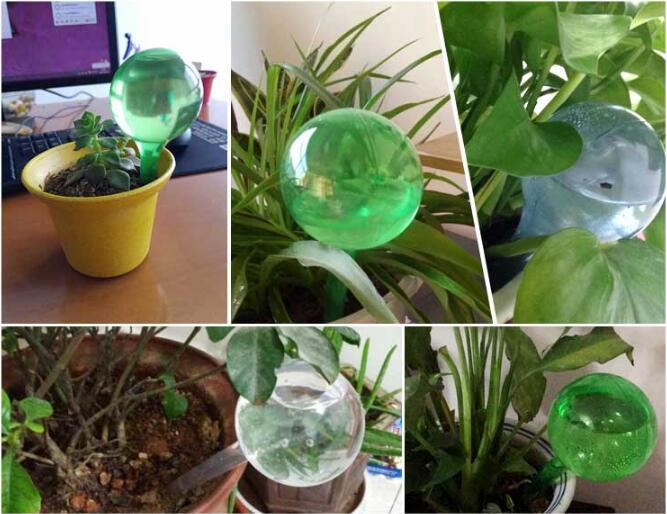 Полив цветок Искусственные стеклянные ленивые круглые растения контроль над цветами капельный шар Капельное орошение садовые аксессуары на открытом воздухе(без синего цвета