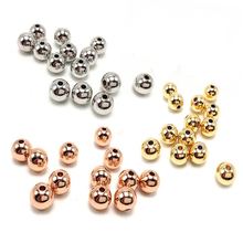 3 4 5 6 8mm Stainless Steel Rose Gold Spacer Beads Charm Loose Beads DIY Bracelets Beads for Jewelry Making fit Charm Findings x royal 10pcs lot stainless steel diy jewelry making findings cross shape loose beads 5 8mm small hole gold rose gold metal bead