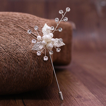 цена на TRiXY Exquisite Silver Leaf Wedding Brooch for Women Wedding Party Jewelry Accessories Girl Clips Suit Corsage Collar Pin XZ01-S