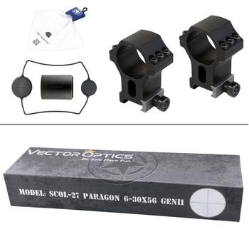 Vector Optics Gen2 Paragon 5-25x56 Tactical Riflescope Hunting Rifle Scope 1/10 MIL LeREE Lens 90% Light 2KM Long Range .338 6