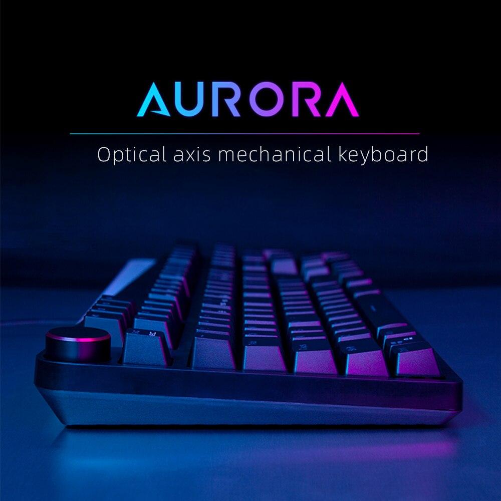 Équipe loup Profession jeu clavier mécanique RGB rétro-éclairé USB filaire axe optique russe/anglais mise en page pour ordinateur