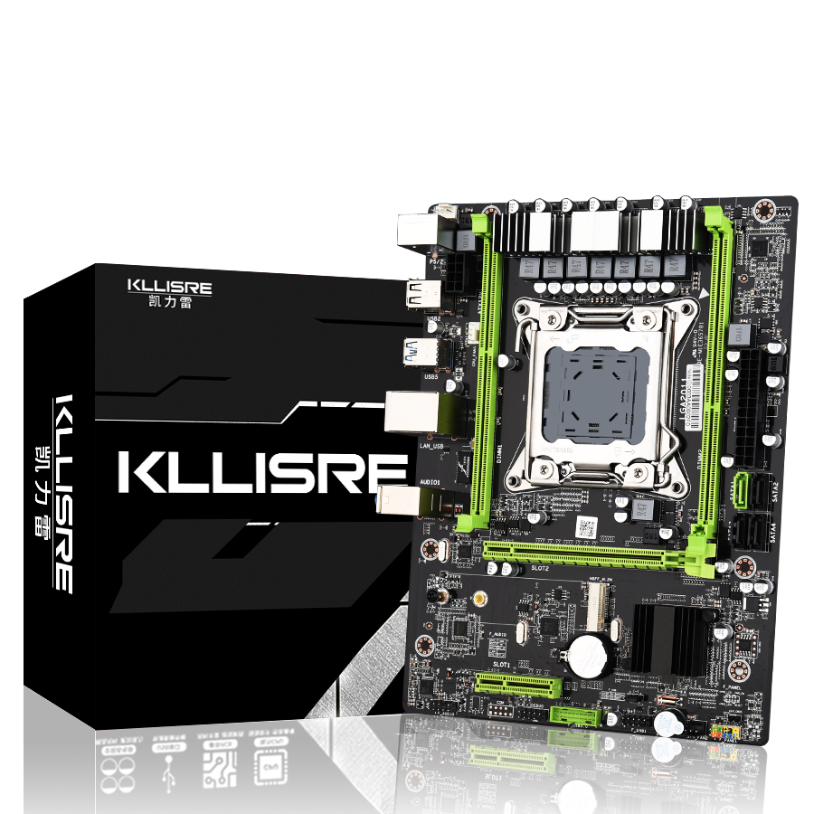 Kllisre X79 motherboard USB3.0 LGA2011 ATX SATA3 PCI-E NVME M.2 SSD support REG ECC memory and Xeon E5 processor(China)