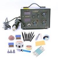 SAIKE 852D++ SMD Rework Station Hot Air Gun Soldering Station Desoldering Station Repair Welding Tools 220V 110V 2 in 1